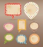 Vintage Colorful Bubbles For Speech Stock Images