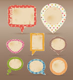 Vintage colorful bubbles for speech. Vector illustration Stock Images