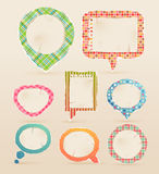 Vintage colorful bubbles for speech. Vector illustration Royalty Free Stock Photography
