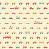 Vintage colorful car pattern Royalty Free Stock Images