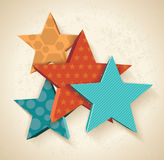 Vintage colorful 3D stars pattern. Stock Photos