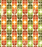 Vintage colorful decorative seamless pattern, rhombic abstract b Stock Photography