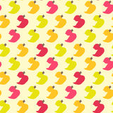 Vintage colorful ducks polygon pattern Stock Images