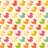 Vintage colorful ducks polygon pattern Royalty Free Stock Images