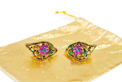 Vintage colorful earings Royalty Free Stock Images