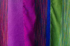 Vintage colorful fabric texture Stock Photos