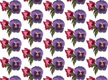 Vintage colorful flowers pattern Stock Photo