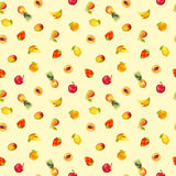 Vintage colorful fruit polygon texture Royalty Free Stock Photography