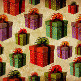 Vintage colorful gift box pattern Stock Images