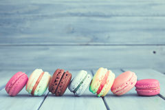 Vintage Colorful macaroons Stock Photos