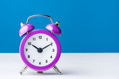 Vintage Colorful Magenta Clock Alarm Royalty Free Stock Image