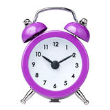 Vintage Colorful Magenta Clock Alarm Isolated royalty free stock image