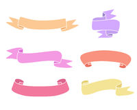 Vintage Colorful Ribbons Collection. Vector Design Elements Stock Photography