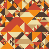 Vintage colorful seamless pattern with pyramids. Stock Photo