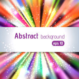 Vintage colorful template with burst background Stock Photography