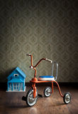 Vintage colorful tricycle Royalty Free Stock Photo