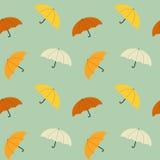 Vintage colorful umbrella seamless pattern background illustration Stock Photo