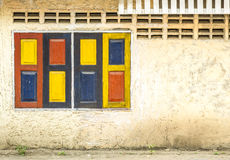 Vintage colorful windows. Royalty Free Stock Photos