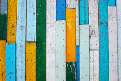 Vintage colorful wood background Stock Images