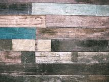Vintage colorful wood background Stock Photography