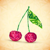 Vintage colors abstract triangles geometry cherry Stock Images