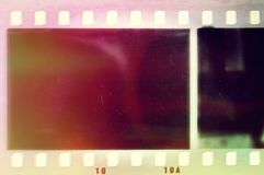 Vintage colors film strip frame. Design element. Vintage colors film strip frame Stock Images