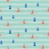 Vintage colors Hawaii ocean seamless vector pattern. Royalty Free Stock Photos