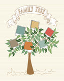 Vintage colors instant photo family tree vector illustration