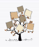 Vintage colors instant photo tree. Brown instant photo leaf tree design. Vector file layered for easy manipulation and custom coloring Royalty Free Stock Photography