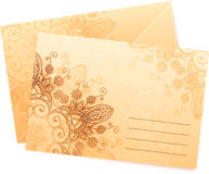 Vintage colors ornate isolated vector envelops Stock Photos