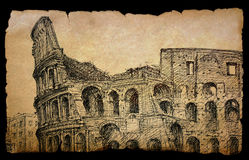 Vintage Colosseum Royalty Free Stock Photos