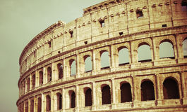 Vintage Colosseum in Rome. Italy Stock Photo