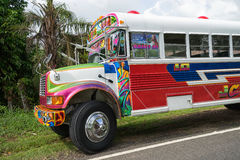 Vintage colourful bus Royalty Free Stock Photos