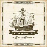 Vintage Columbus Label libre illustration