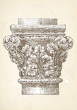 Vintage column capital illustration Stock Photography
