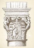 Vintage column capital illustration Stock Image