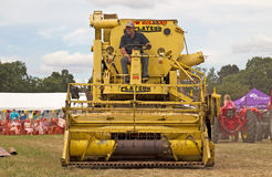 Vintage combine harvester Royalty Free Stock Photography