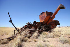 Vintage combine harvester, USA Royalty Free Stock Photo