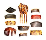Vintage combs collection Royalty Free Stock Images