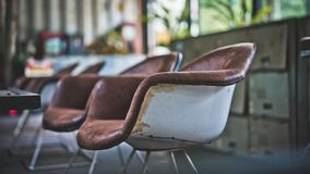 Vintage Comfortable Cushion Chairs Photo stock image