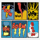 Vintage comic book explosions Royalty Free Stock Images