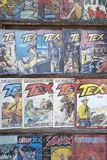 Vintage comics Tex royalty free stock photography