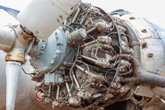 Vintage Commercial Aircraft Piston Radial Engine Royalty Free Stock Image