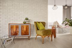 Free Vintage Commode And Armchair Royalty Free Stock Photos - 92505748