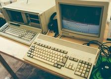 Vintage Commodore Amiga 1200 PC computer stock photos