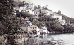 Vintage Como Lake, Italy stock photos