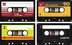 Vintage compact audio cassettes Royalty Free Stock Photography