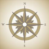 Vintage compass. Nautical star - vintage compass in brown color Royalty Free Stock Image