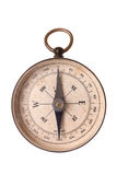 Vintage compass. A vintage compass pointing due North isolated on white Stock Images