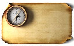 Vintage compass. On an old paper Royalty Free Stock Photos